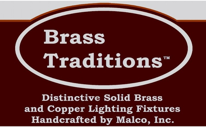 Brass Traditions, Malco, Logo, Exterior Lighting, Copper, Solid Brass, Handcrafted, Indoor, Outdoor,,